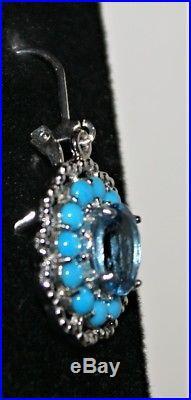 Sleeping Beauty Turquoise London Blue Topaz Earrings Dangle Sterling Gem Insider
