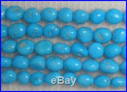 Sleeping Beauty Turquoise Loose 7mm Nugget Gemstone Beads Blue 18 Std #258