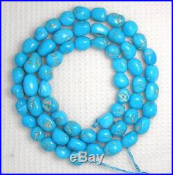 Sleeping Beauty Turquoise Loose 8mm Nugget Gemstone Beads Blue 18 Std #255