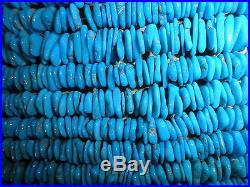 Sleeping Beauty Turquoise Loose Gemstone 10mm Near Heishi Beads Blue 18
