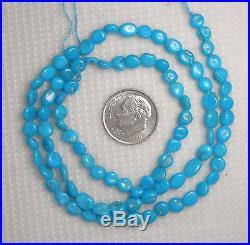 Sleeping Beauty Turquoise Loose Tiny Nugget Gemstone Beads Blue 18 Strand #259