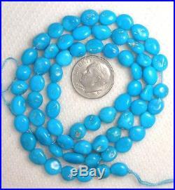 Sleeping Beauty Turquoise Loose pebble beads 18 std natural Blue Lot # 304