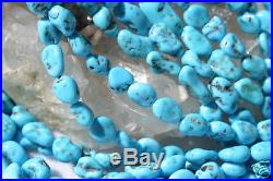 Sleeping Beauty Turquoise Nugget Beads 16 In. Strand BnC Jewelry