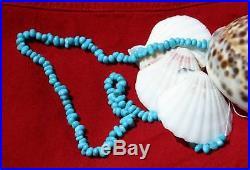 Sleeping Beauty Turquoise Pebble Beads 15 In. BnC