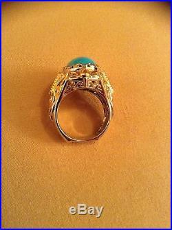 Sleeping Beauty Turquoise Ring, Designer Michael Valitutti, London Blue Topaz, Sz 5