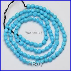 Sleeping Beauty Turquoise Smooth Freeform Nuggets 18 inch strand