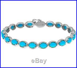 Sleeping Beauty Turquoise Sterling Silver 7-3/4 Tennis Bracelet Qvc $295.00