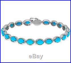Sleeping Beauty Turquoise Sterling Silver 7 Tennis Bracelet Qvc $275.00