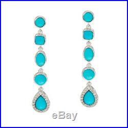 Sleeping Beauty Turquoise Sterling Silver Drop Earrings QVC $218 Sold Out