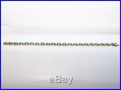 Sleeping Beauty Turquoise Sterling Silver Tennis Bracelet (2256-10-18)