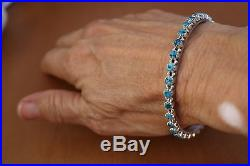 Sleeping Beauty Turquoise With Dark Matrix Sterling Bangle by Gayness Parker