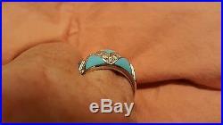 Sleeping beauty turquoise ring, size 11