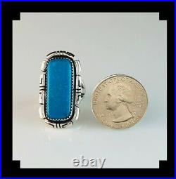 Sterling and Sleeping Beauty Turquoise by Navajo Artist Anthony Kee