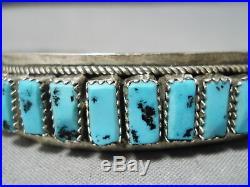 Stunning Vintage Navajo Sleeping Beauty Turquoise Sterling Silver Bracelet