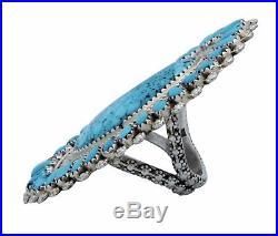 Sylvanna Wilson, Ring, Sleeping Beauty Turquoise, Cluster, Navajo Handmade, 9