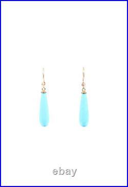 Syna Sleeping Beauty Turquoise Diamond Earrings