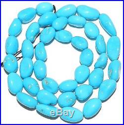 T427f Sleeping Beauty Blue Turquoise Medium 8mm 14mm Pebble Nugget Beads 16