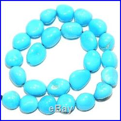 T486sp SLEEPING BEAUTY Blue Turquoise Small (8x11-13x7mm) Pebble Nugget Beads 8