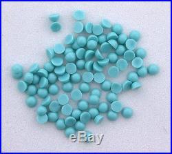 TWELVE 3mm Round Resinated Sleeping Beauty Turquoise Cabochon Cab Gemstone 5876
