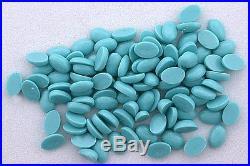 TWELVE 6x4 Oval Resinated Sleeping Beauty Turquoise Cabochon Cab Gemstone 5906