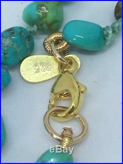 Tehya Oyama Turquoise(TM) 4-6MM Free Form Sleeping Beauty Turquoise Necklace 29