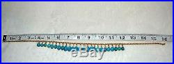 Turquoise Necklace 18K Gold 16 Sleeping Beauty 34 Grams Weight Of Necklace