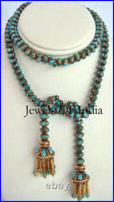 Turquoise Sleeping Beauty Gemstone 925 Sterling Silver Handmade Necklace Jewelry