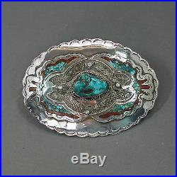 Turquoise Sterling buckle Sleeping Beauty Navajo Old Pawn