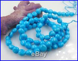Untreated Rare Aaaaa Sleeping Beauty Finest Robin's Egg Blue Turquoise Beads 18