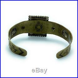 Vintage 1960's Navajo Sterling Silver & Sleeping Beauty Turquoise Cuff Bracelet