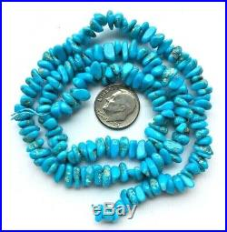 Vintage Arizona Sleeping Beauty Turquoise Nugget Beads 18 Strand 130 Carats