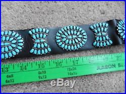 Vintage Larry Moses Begay Turquoise Cluster Concho Belt Sleeping Beauty Turq