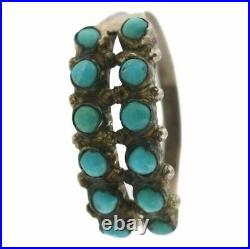 Vintage Navajo Native American Sterling Silver Sleeping Beauty Turquoise Ring