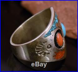 Vintage Navajo Old Pawn Sleeping Beauty TURQUOISE Sterling Mens Womens Ring