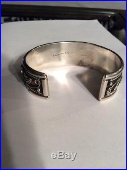 Vintage Navajo Sterling Silver/Sleeping Beauty Turquoise Cuff Bracelet By Begay