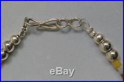 Vintage Southwestern Mini Squash Concho Necklace With Sleeping Beauty Turquoise
