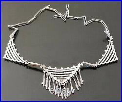 Vintage ZUNI Needlepoint Sleeping Beauty Turquoise 19 Necklace