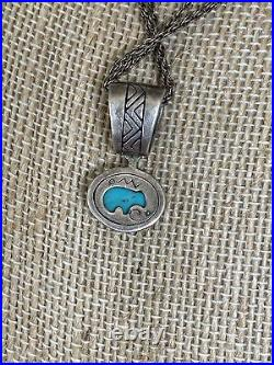 Vtg Carolyn Pollack Relios Sleeping Beauty Turquoise Sterling Silver Necklace