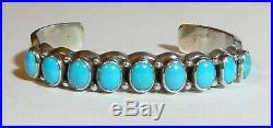 WILSON BEGAY Sturdy Sleeping Beauty Turquoise Sterling Silver Cuff Bracelet