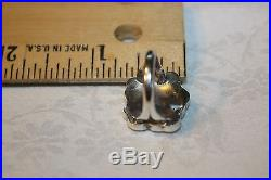 Zuni 925 Sterling Silver Sleeping Beauty Turquoise Mop Ring Signed R A Wallace