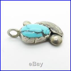 Zuni Handmade Lydia Simplicio Silver Sleeping Beauty Turquoise Pendant