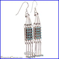 Zuni Native American Sleeping Beauty Turquoise Petit Point Earrings SKU#227088