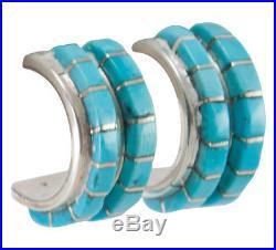 Zuni Native American Sleeping Beauty Turquoise Post Earrings SKU#230207