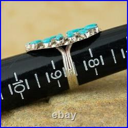 Zuni Native American Sterling Silver Turquoise Sleeping Beauty Ring Sz 8.5