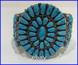 Zuni Sleeping Beauty Turquoise and Sterling Silver Cuff